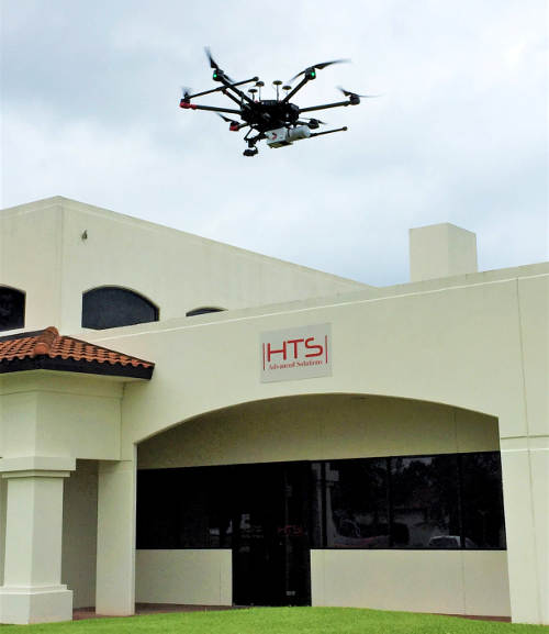 HTS Mapping Services: actual Aerial Mapping over HTS Advanced Solutions Headquarters, Houston TX