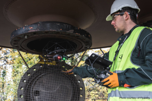 Manhole Inspection using Flyability Elios